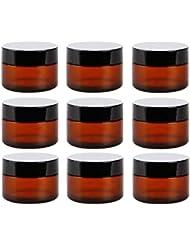 Yiteng スポイト遮光瓶 アロマオイル 精油 香水やアロマの保存 小分け用 遮光瓶 保存 詰替え ガラス製 9本セット (茶色10g)