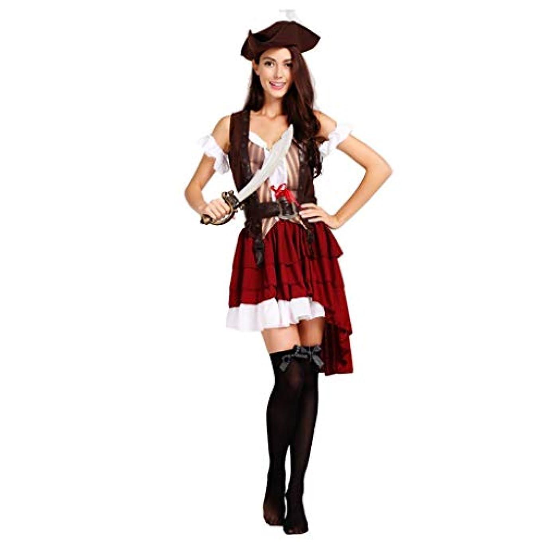 ラッドヤードキップリング背骨訴えるSHWSM 大人の女性のタキシード海賊コスチューム、帽子、ジャケット、ベルト、さまざまなパーティーの服を含むハロウィーン衣装ボール海賊コスチューム(身長160cm-175cmに適しています)