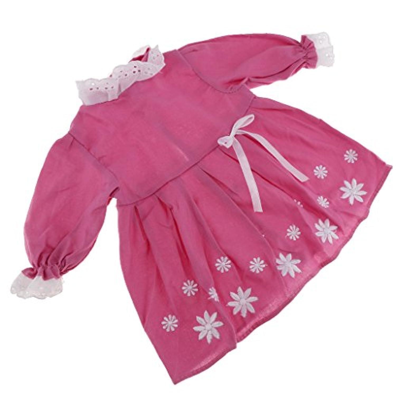 Fenteer ファッション ドールアクセサリー 1/6スケールブライス アゾン リカドール用 ドレス スカート カジュアル 2色選ぶ - ライトレッド