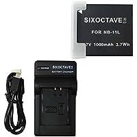 SIXOCTAVE Canon キヤノン NB-11L NB-11LH 対応 互換バッテリー (純正充電器で充電可能 残量表示可能)&急速互換USB充電器 バッテリー チャージャー CB-2LF (メーカー純正互換ともに対応)の2点セット PowerShot SX410 IS / SX400 IS / A3500 IS / A2600 / A4000 IS / A3400 IS / A2400 IS / A2300 / IXY 640 / 170 / 160 / 150 / 130 / 630 / 140 / 120 / 100F / 110F / 90F / 420F / 430F / IXY 650 / IXY 210 / IXY 200 / PowerShot SX430 IS 等デジタルカメラ 対応