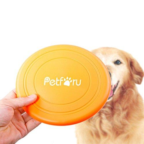 ペット玩具,Petforu 犬用玩具 投げる玩具 知能トレーニングツール フリスビー フライングディスク玩具 シリコーン製飛盤 無毒無害 アウトドア ストレス解消 犬の訓練 小型・中型・大型犬-色指定不可