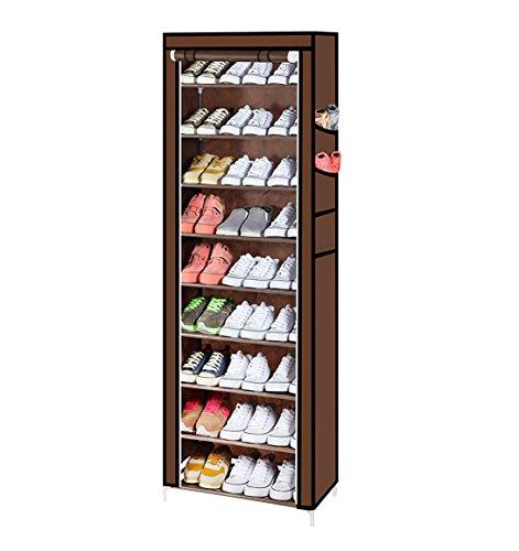 YUZO カバー付きシューズラック9段 靴箱収納