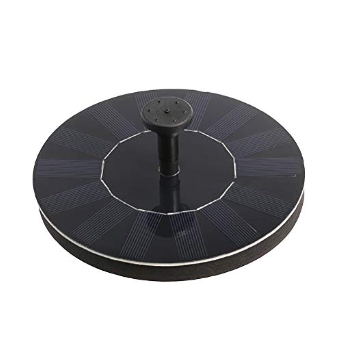 黒信頼できる接続VOSAREA 噴水太陽動力を与えられた水ポンプの鳥の浴槽の鳥の浴槽のための漂うパネルプールの池水槽水族館の庭の芝生??(1.4W)