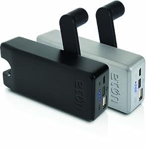【正規代理店品】 Eton BoostTurbine 4000手回し充電機能付USBポータブル充電器 ブラック JBOTU4000B