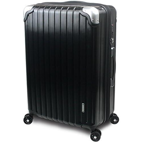 【SUCCESS サクセス】 スーツケース 3サイズ 【 大型76cm / ジャスト型70cm / 中型65cm 】 超軽量 TSAロック搭載 【 プロデンス ダイヤルロックモデル】 (中型 Mサイズ 65cm, ブラックヘアライン)