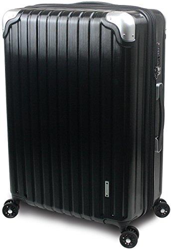 【SUCCESS サクセス】 スーツケース 2サイズ 【 大型76cm / ジャスト型70cm / 】 超軽量 TSAロック搭載 【 プロデンス ダイヤルロックモデル】 (ジャスト型 Jサイズ 70cm, ブラックヘアライン)