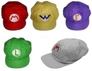 一瞬でマリオに変身 マリオ ルイージ 帽子 (5色セット)