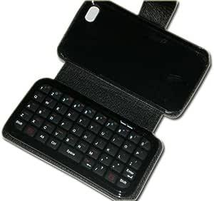 Bluetooth ミニキーボード付き iphone4用レザーケース