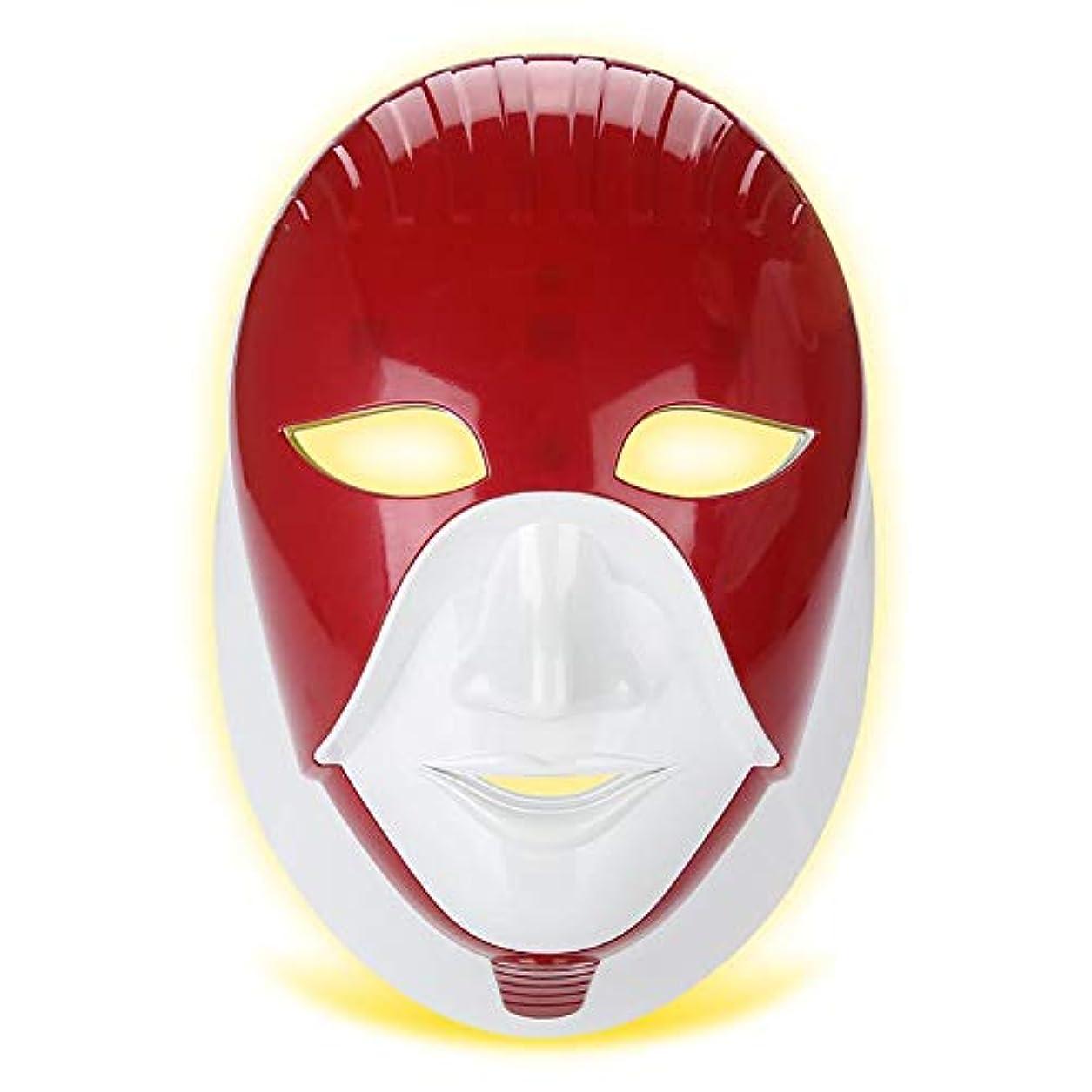 囲むジェム形容詞LEDフェイシャルネックマスク、滑らかな肌のより良いのための7色のネオン - 輝くライトフェイスケア美容ツール、肌のリラクゼーショング、引き締め、調色、引き締まった肌、瑕疵び、美白(02#)