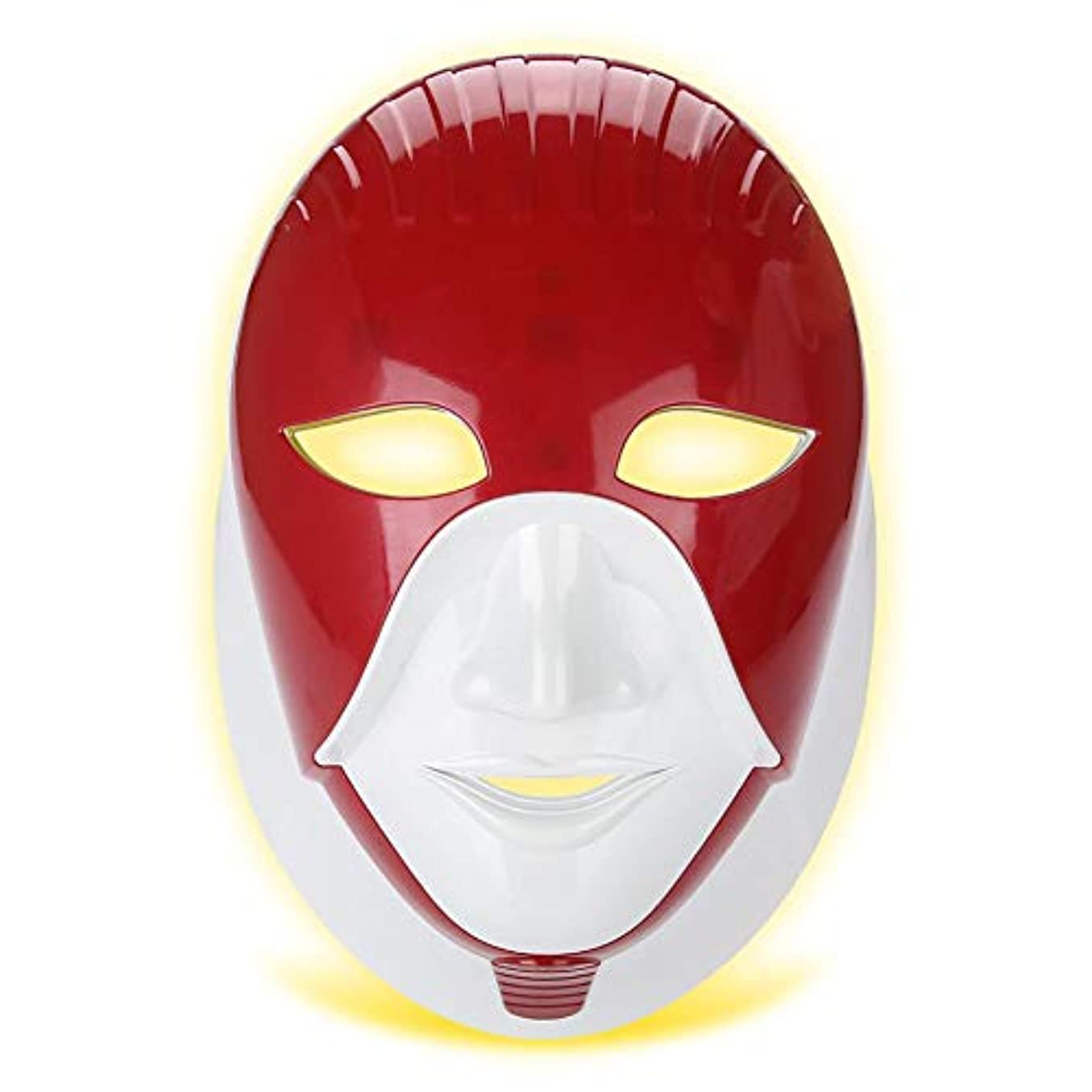 やる財団揺れるLEDフェイシャルネックマスク、滑らかな肌のより良いのための7色のネオン - 輝くライトフェイスケア美容ツール、肌のリラクゼーショング、引き締め、調色、引き締まった肌、瑕疵び、美白(02#)