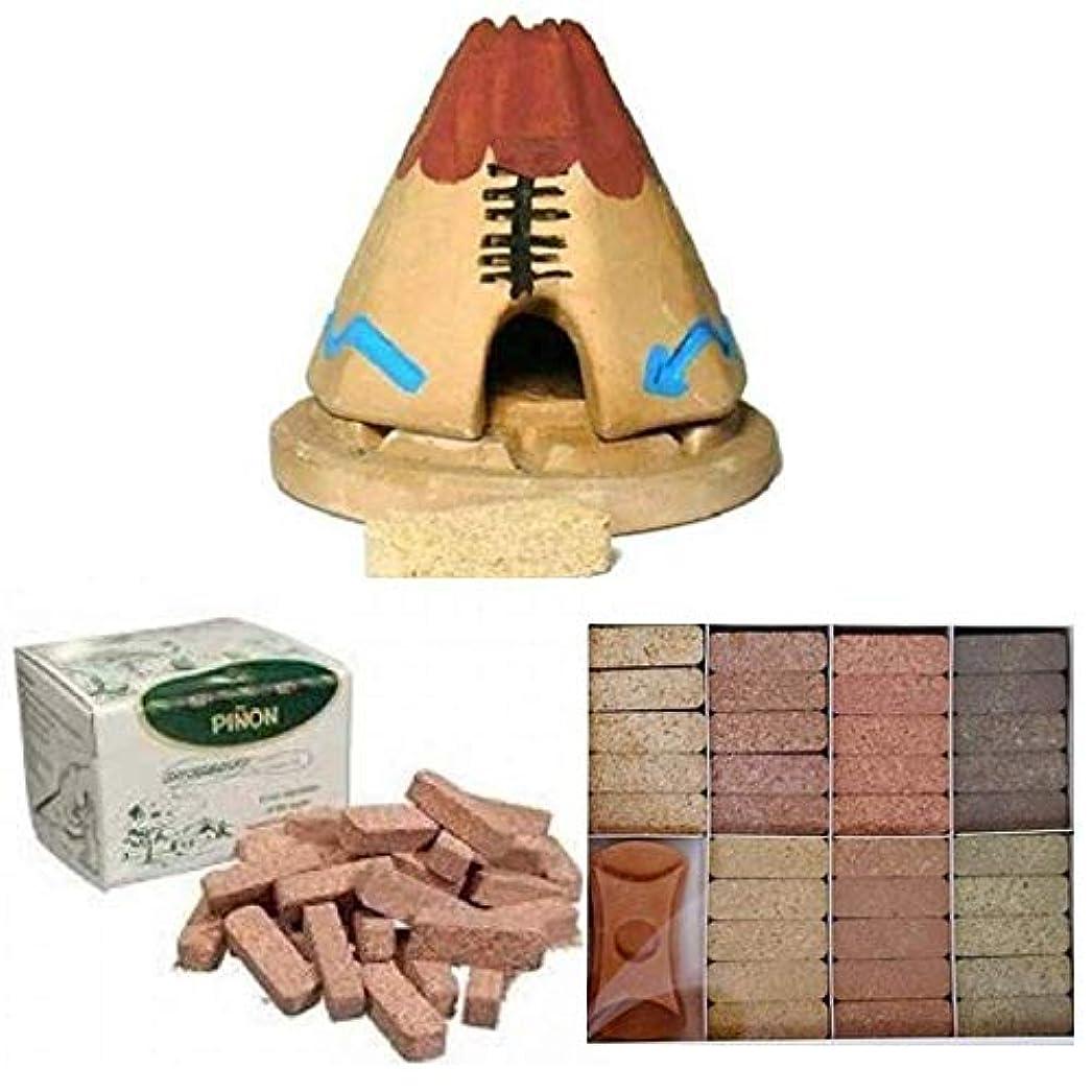 スキャンダル豚肉ポールTeepee Incense Burner with 20 Pinon Natural Wood Incense, 40 Pinon Natural Wood Incense, 7 Scent Sampler Wood...