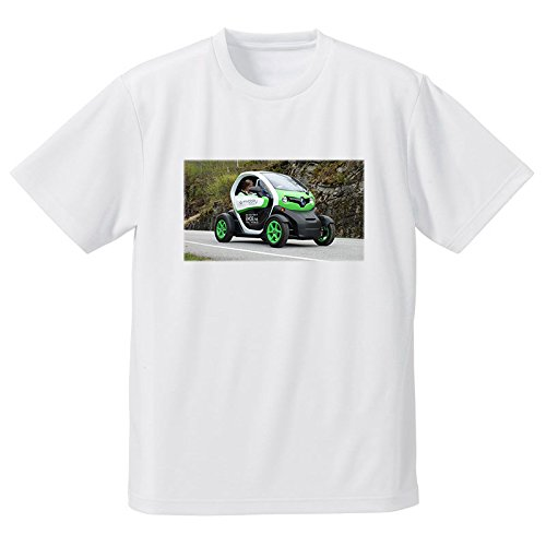 車 電気自動車 走行 フォトプリントTシャツ