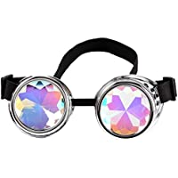 3-5 Days Delivery Kaleidoscope Goggles Steampunk Rave Diffraction Glasses
