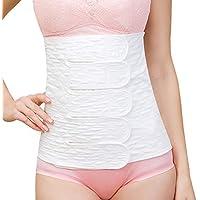 LZYMSZ 2PCS Postpartum Corset,Recovery Belly Wrap Girdle Support Band,Body Shaper Postnatal Shapewear Adjusted Slimming Underwear