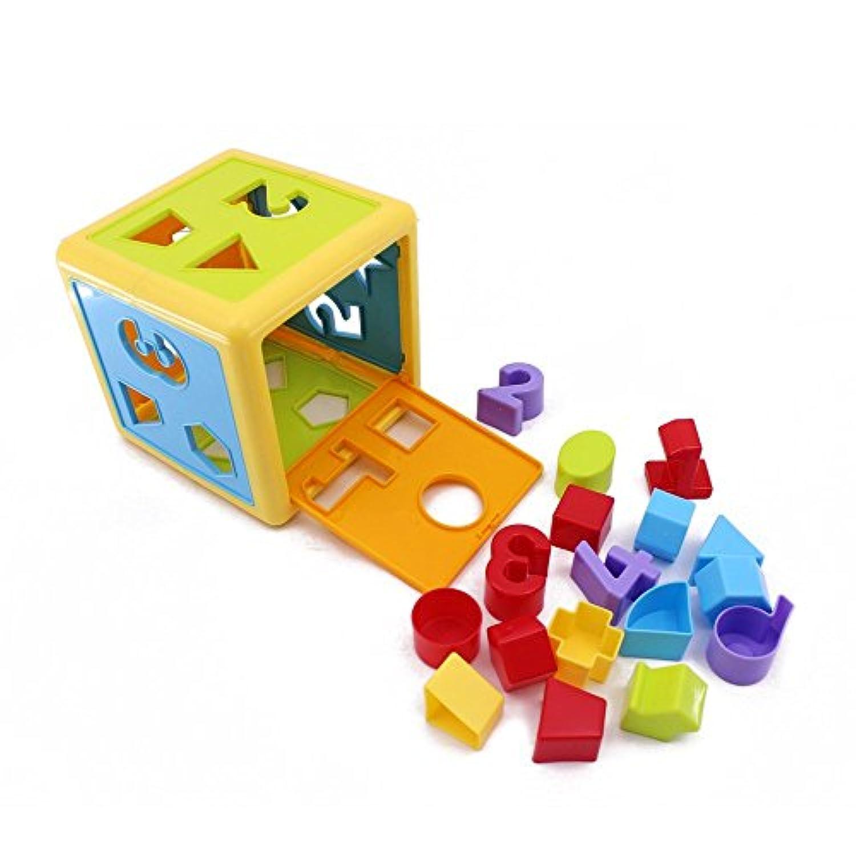 Wishtime パズル 形合わせ ボックス たんぐらむ はめこみ 型はめ 幼児 ブロック 子供 おもちゃ 知育 立体 パズル(男女共用)