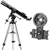NATIONAL GEOGRAPHIC 天体望遠鏡 スマホ撮影アダプターセット 屈折式 経緯台 口径90mm 焦点距離900mm NAG 90-70000