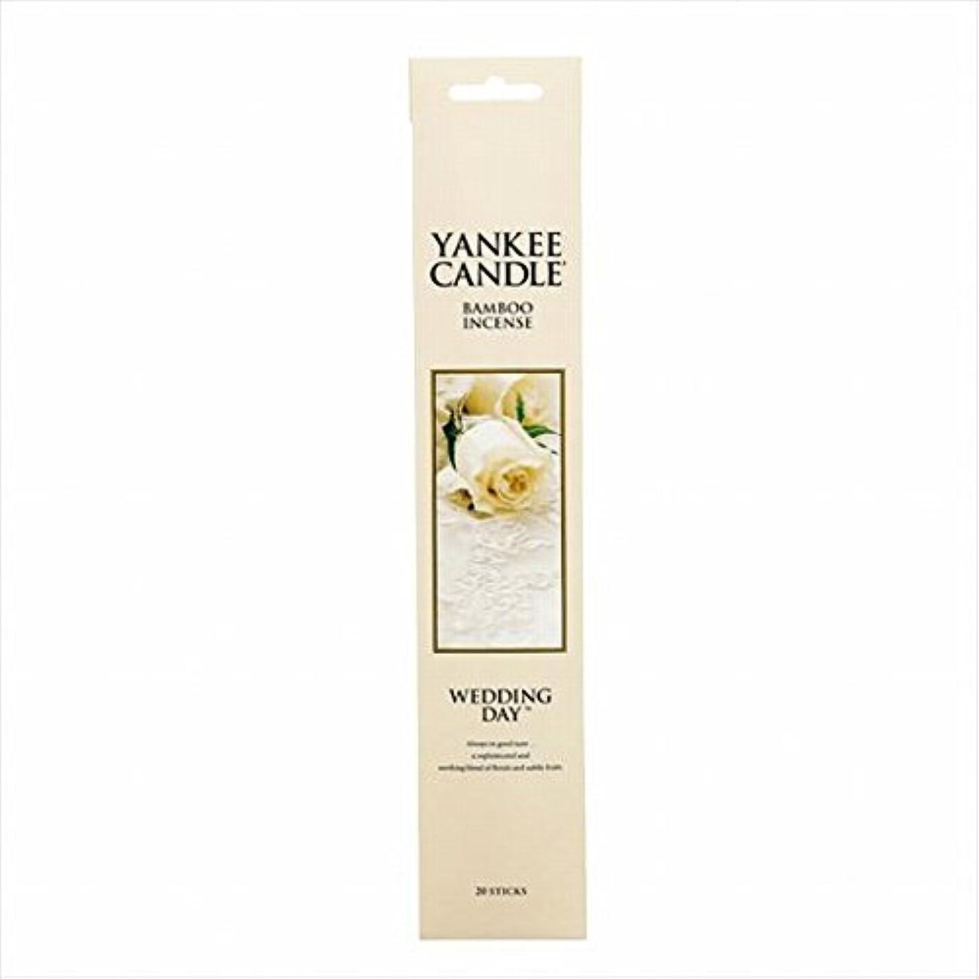 優勢アマゾンジャングル取り付けカメヤマキャンドル(kameyama candle) YANKEE CANDLE バンブーインセンス 「 ウエディングデイ 」