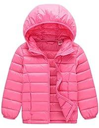 b7e7b4aeedded  YW 子供ダウンジャケット キッズ 軽量 秋冬 ダウン90% 女の子 男の子 フード付き ダウンコート 人気 折り畳み式ダウンジャケット 男女兼用  各年齢…