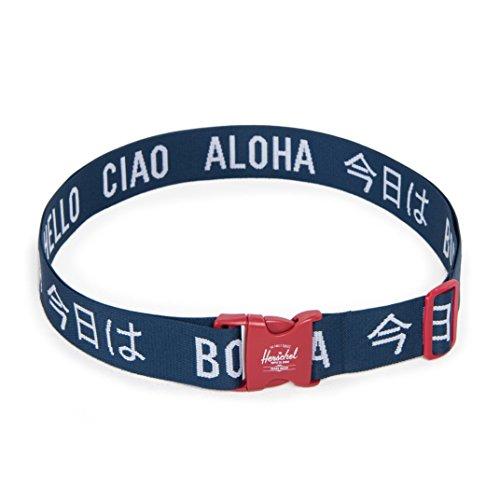 [ハーシェルサプライ] Luggage Belt 5cm 10538-00018-OS Navy/Red Navy/Red