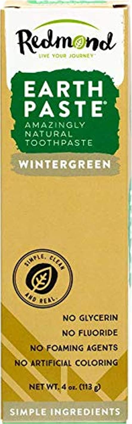 不快な電話するセブン海外直送品Redmond RealSalt Natural Organic Flouride Free Toothpaste Wintergreen, Wintergreen 4 OZ