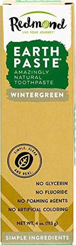 出来事牛パスタ海外直送品Redmond RealSalt Natural Organic Flouride Free Toothpaste Wintergreen, Wintergreen 4 OZ