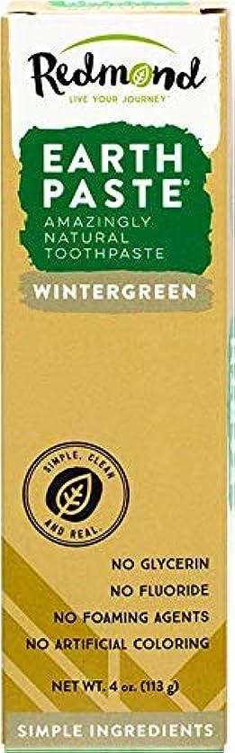 活性化フライカイトオークランド海外直送品Redmond RealSalt Natural Organic Flouride Free Toothpaste Wintergreen, Wintergreen 4 OZ