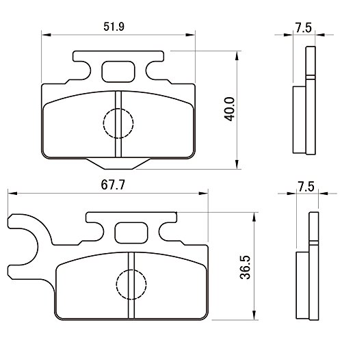 デイトナ(DAYTONA) ブレーキパッド 赤パッド フロント:KSR110/KX65 など 79861