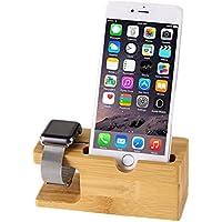 [アイ?エス?ピー]isp iPhone/iWatch 充電スタンド ホルダー 木製 収納ケース 環境に優しい素材