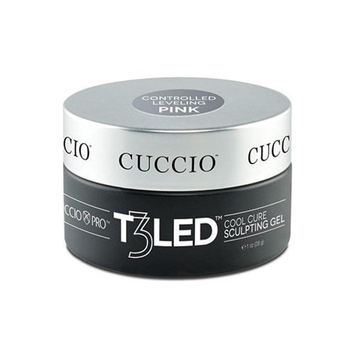 ギャラリーどうしたのハングCuccio Pro - T3 LED/UV Controlled Leveling Gel - Pink - 2oz / 56g