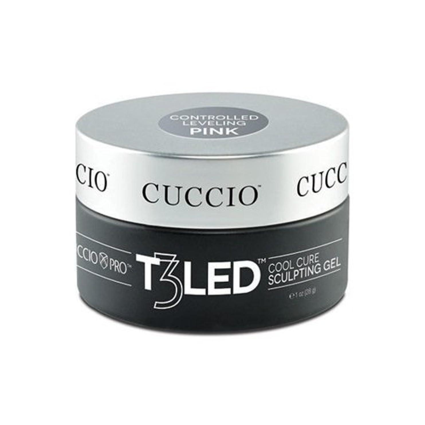 に勝る前奏曲電極Cuccio Pro - T3 LED/UV Controlled Leveling Gel - Pink - 2oz / 56g