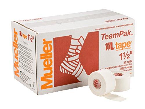 Mueller(ミューラー) ホワイトプロテープ 38mm [32個入り] 固定用 非伸縮 コットンテープ チームパック