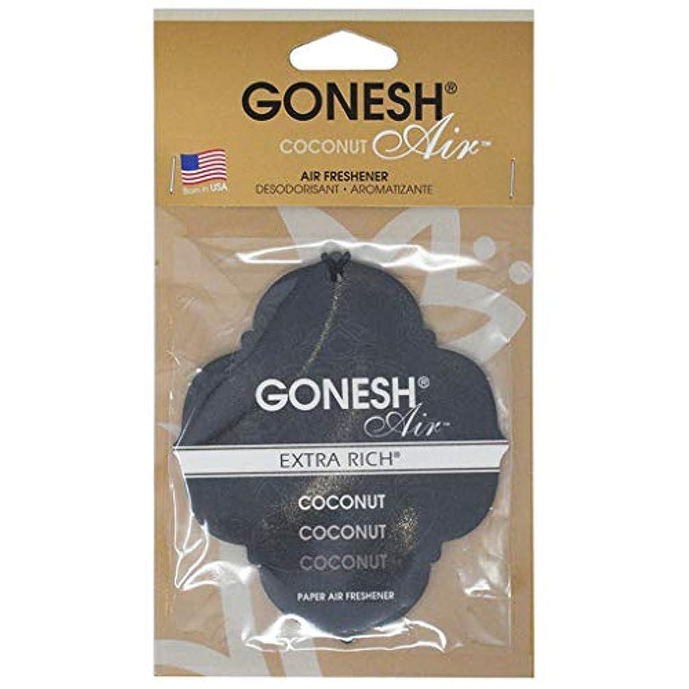 荒れ地リーク洞察力GONESH(ガーネッシュ) GONESHペ-パ-エアフレッシュナ-Coconut 96mm×3mm×170mm