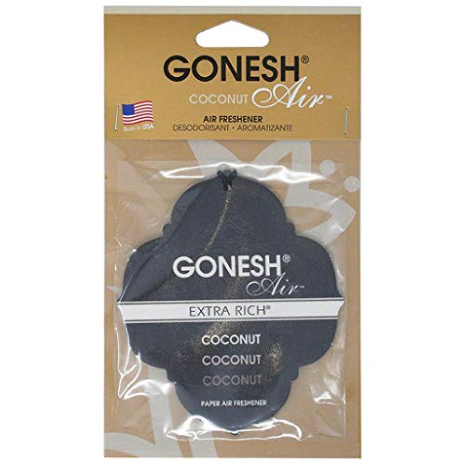 準備ができてポーズ甲虫GONESH ペーパーエアフレッシュナー ココナッツ