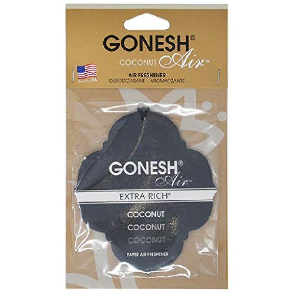業界洗う電極GONESH ペーパーエアフレッシュナー ココナッツ