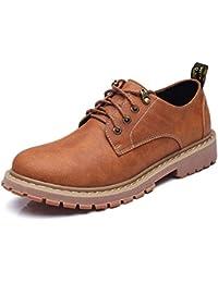 [AmazingJP] ブーツ ワークブーツ メンズ カジュアルシューズ 靴 革靴 シューズ イエロー グレー ブラウン レースアップ