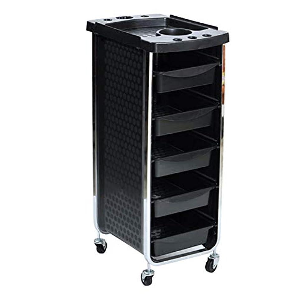 飛ぶ持続的寝室を掃除するエステサロントロリーサロン多機能引き出しヘアカラーカー6層黒,Black