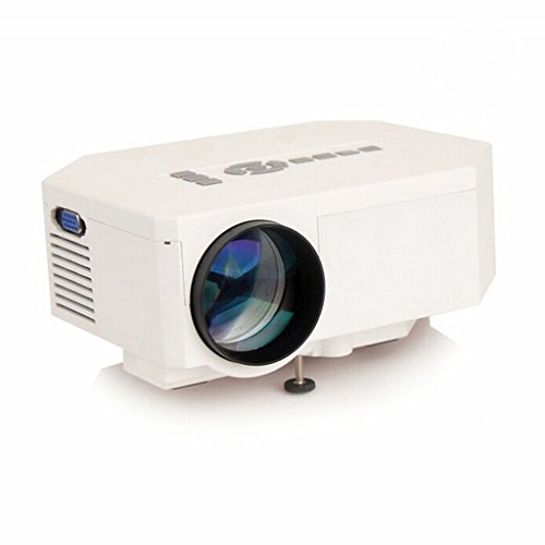 Flylinktech ミニ LED プロジェクター 小型投影機 ホームシネマ hdmi ホワイト