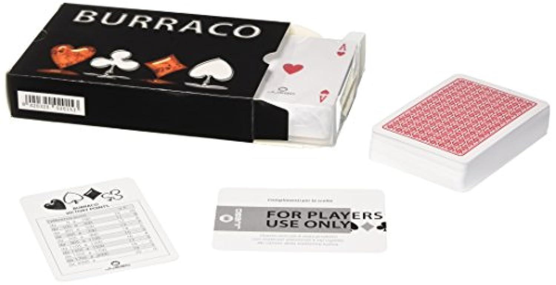 Juego Burraco Set トランプ、メモ帳&ペン - 黒の2デッキ