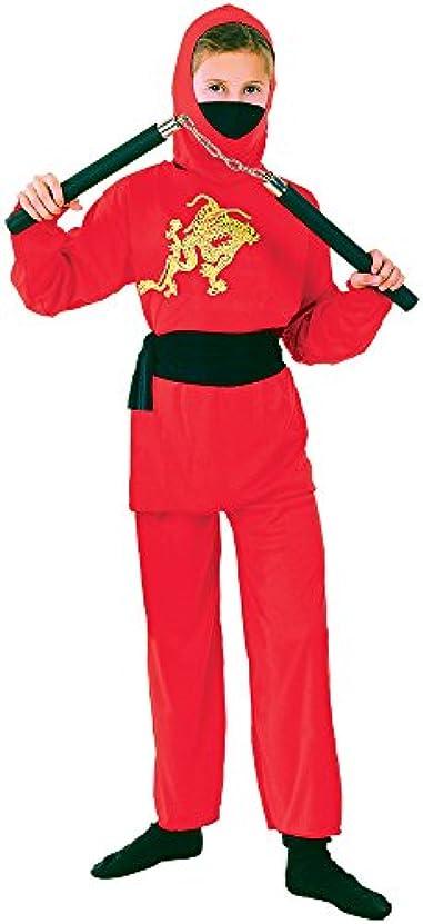 ヒップ排泄する一Bristol Novelty Ninja. Red M . Childrens Costumes - Girls - Medium, 7-9 Years.