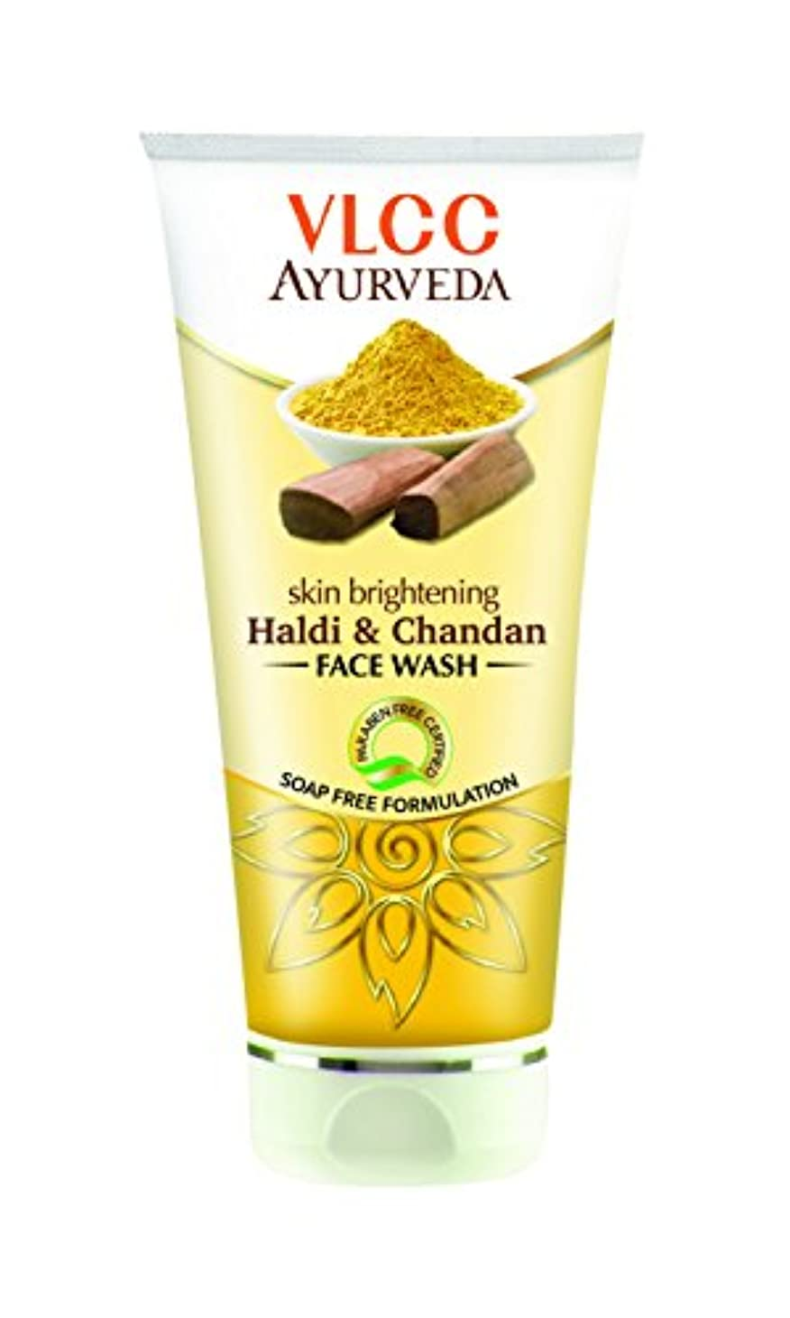 一流ショット透明にVLCC Ayurveda Skin Brightening Haldi and Chandan Facewash- 100ml