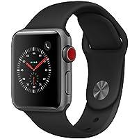 Apple Watch Series3 スペースグレイアルミニウムケースとブラックスポーツバンド アップルウォッチ シリーズ3 本体 (38mm, GPS+セルラーモデル)