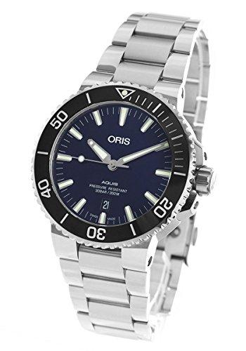 オリス アクイス デイト 300m防水 腕時計 メンズ ORIS 733 7730 4135M[並行輸入品]
