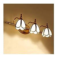 レンズライト ミラーフロントライト、ミラーキャビネットライトバスルームの寝室の廊下の壁ライトシンプルな化粧ランプLED 3/4ヘッドライト バスルームライト (色 : A, サイズ さいず : 60cm/3 Head)