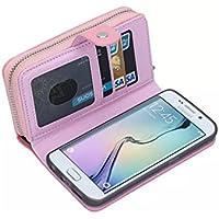 Samsung Galaxy s6Edgeケースプレミアムレザー複数のカードスロット現金コンパートメントポケットwithマグネット開閉式ケースカバーfor Galaxy s6Edge