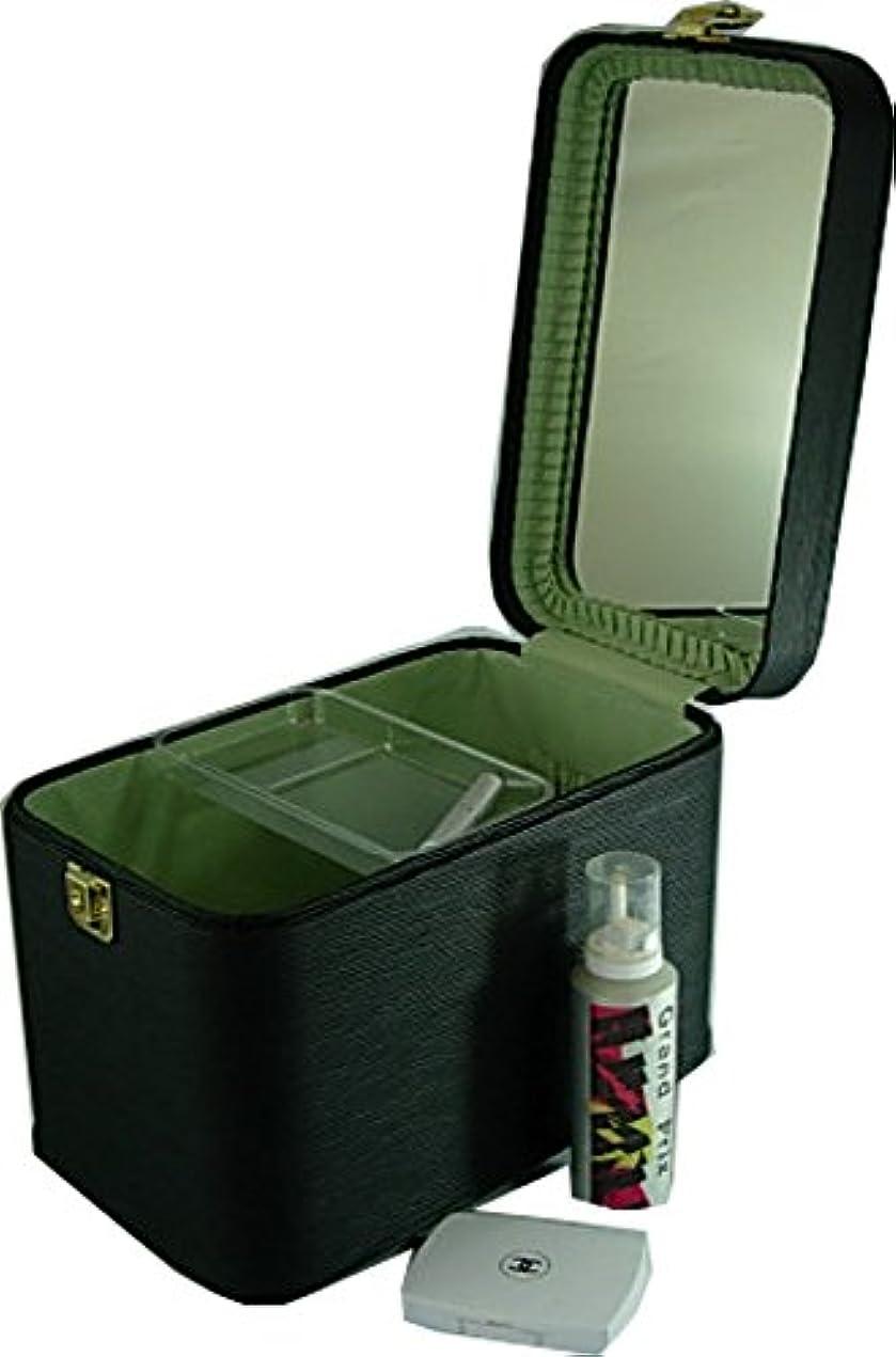 共和党若さ条約コスメボックス 水シボ33cmブラック トレンチケース メイクボックス