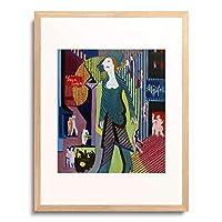 エルンスト・ルートヴィッヒ・キルヒナー Ernst Ludwig Kirchner 「Nachtfrau (Frau geht uber nachtliche Strasse). 1928/1929.」 額装アート作品