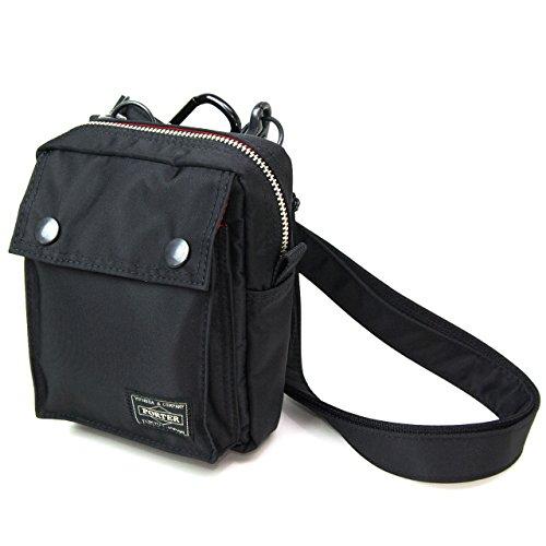 ポーターエルファイン(PORTER L-fine) PORTER×ILS共同企画 ミニショルダーバッグ Mini Shoulder Bag ブラック(裏地:レッド) Black(Backing:Red)