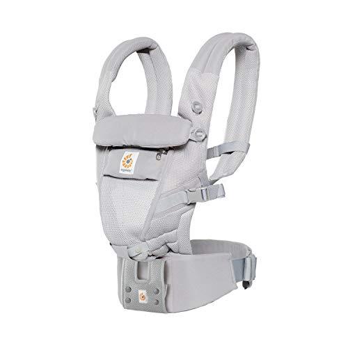 エルゴベビー(Ergobaby) 抱っこひも おんぶ可 [日本正規品保証付] 3Dエアーメッシュ (洗濯機で洗える) 軽量 ベビーキャリア アダプト/グレー クールエア ADAPT CREGBCPEAPGREY