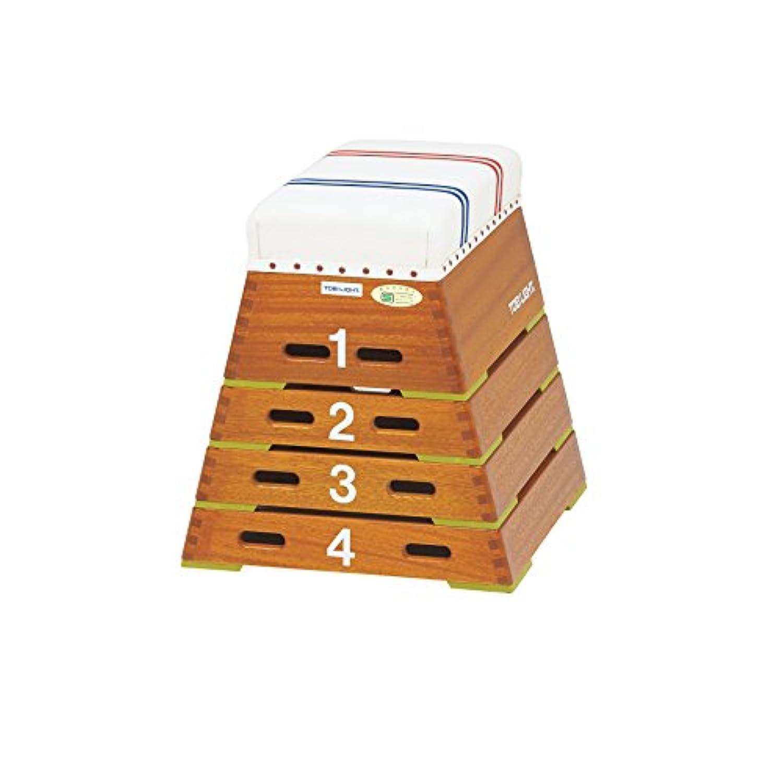 TOEI LIGHT(トーエイライト) 跳び箱ST4段(上部ライン有) 下幅55(上幅30)×奥行60×高さ60cm 4段 上部ライン入帆布 小学校向 T2864 T2864
