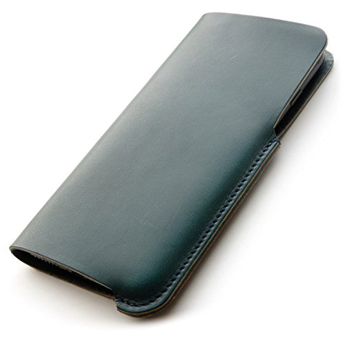 SYRINX iPhone Sleeve 【最上級 牛厚革 TEMPESTI ELBAMATT ( テンペスティ エルバマット ) 】 (iPhone 7/6/6s, Agave)